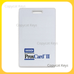 HID 1326 ProxCard II Text Corporation Thick White Card Front