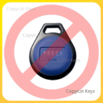 HID iClass Blue Round Key Fob