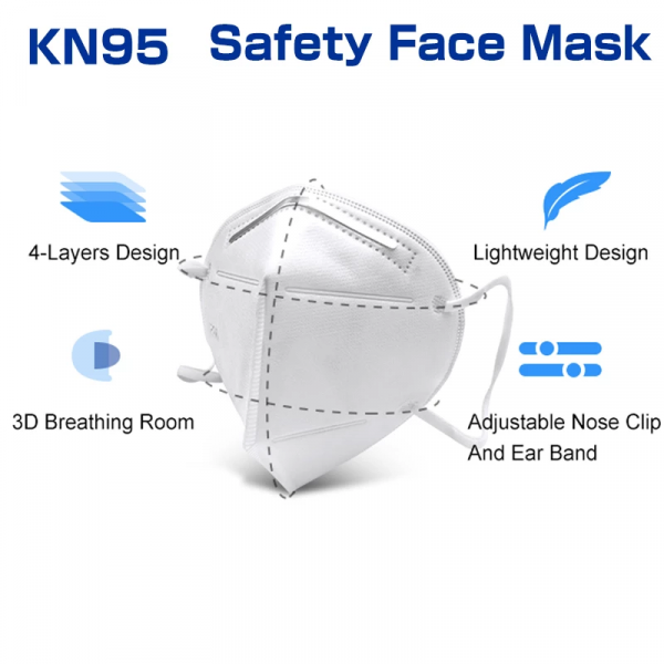 4 Layer KN95 Face Mask Protect COVID-19 Safe